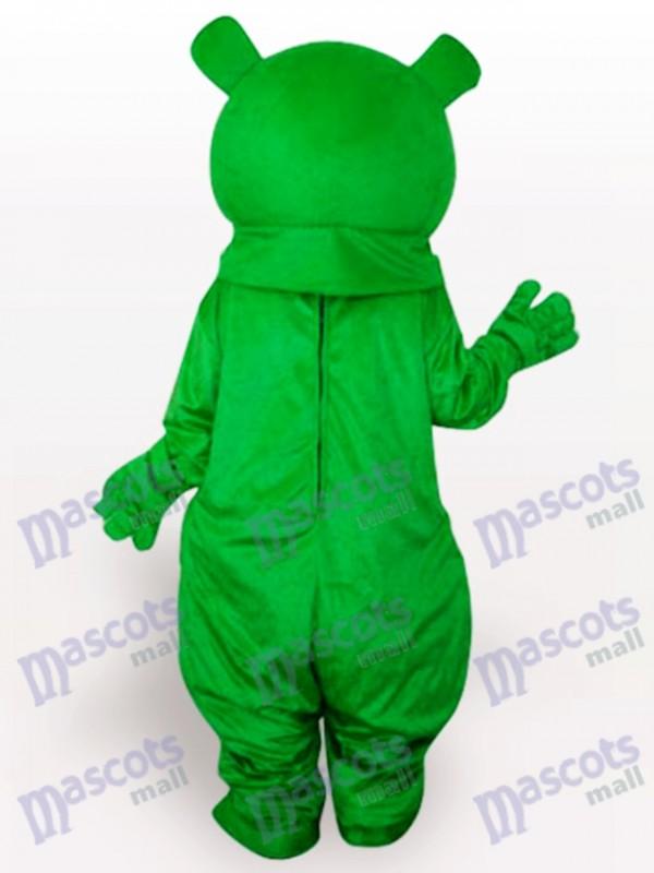 Grüner Bär Anime Maskottchen Lustiges Kostüm