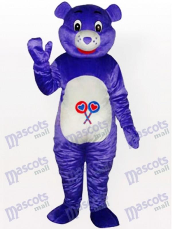 Lila Bär Tier Maskottchen Kostüm
