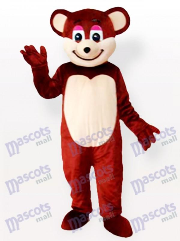 Smiling Brown Bear Tier Maskottchen Kostüm