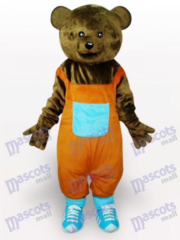 Brauner Teddy Tier Maskottchen Kostüm