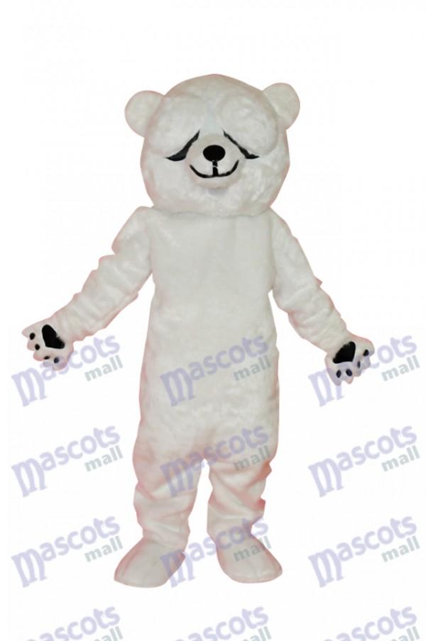 Einfaches und ehrliches Eisbären-Maskottchen-Kostüm-Tier