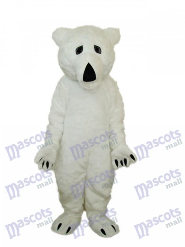 Lange Wolle Eisbär Maskottchen Erwachsene Kostüm Tier