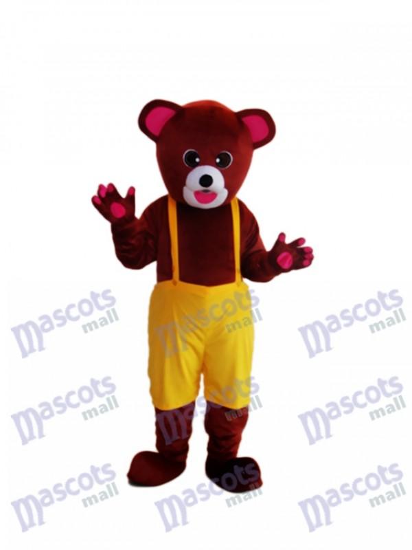 Braun bär Maskottchen Erwachsene Kostüm Tier