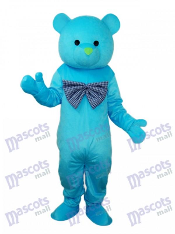 Glückliches blaues Bären Maskottchen erwachsenes Kostüm Tier