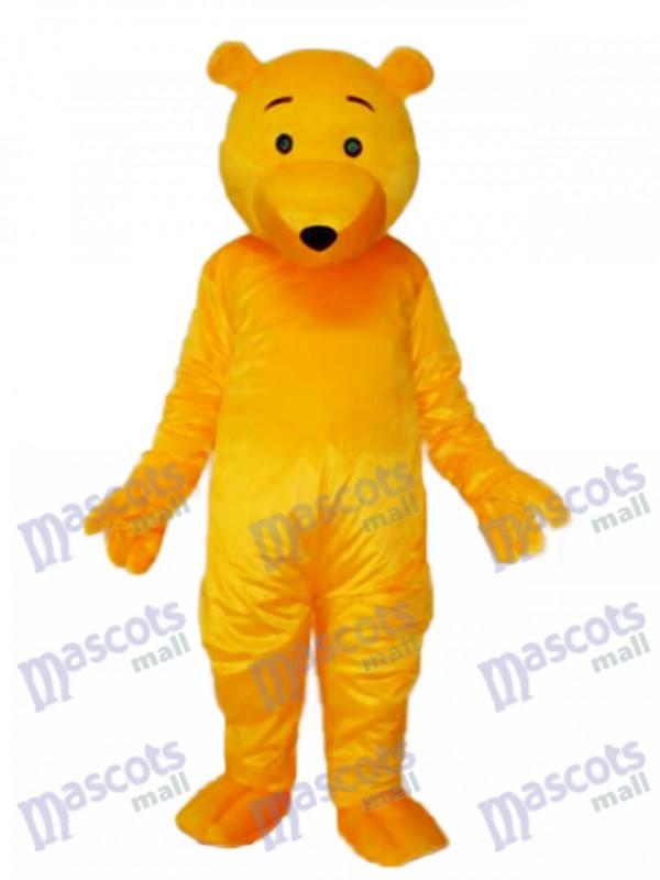 Gelber Bär Maskottchen Erwachsene Kostüm Tier