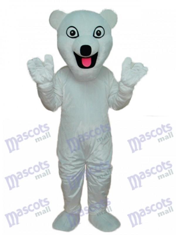 Weißes Eisbär Maskottchen erwachsenes Kostüm Tier