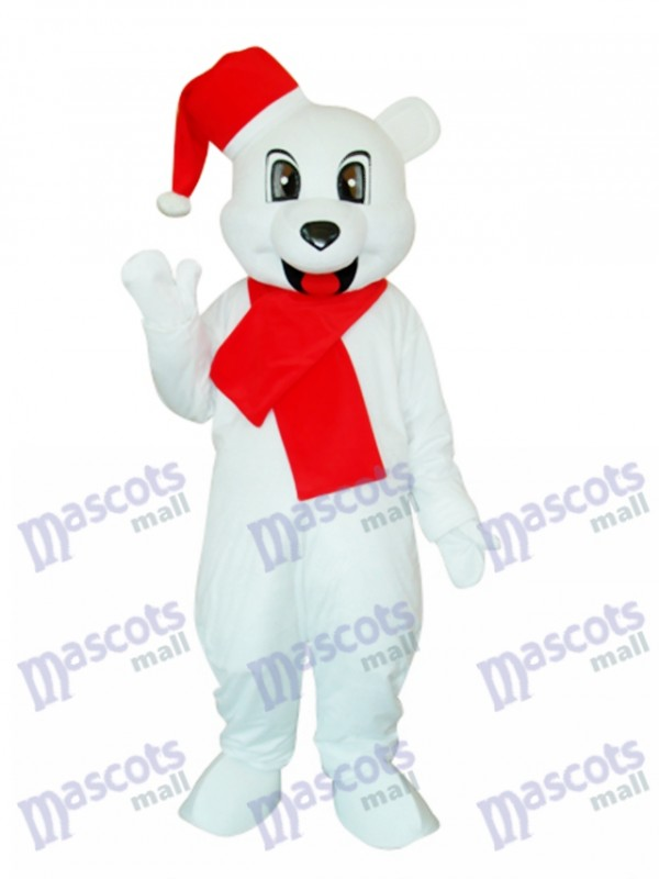 White Christmas Bär Maskottchen Erwachsene Kostüm Tier