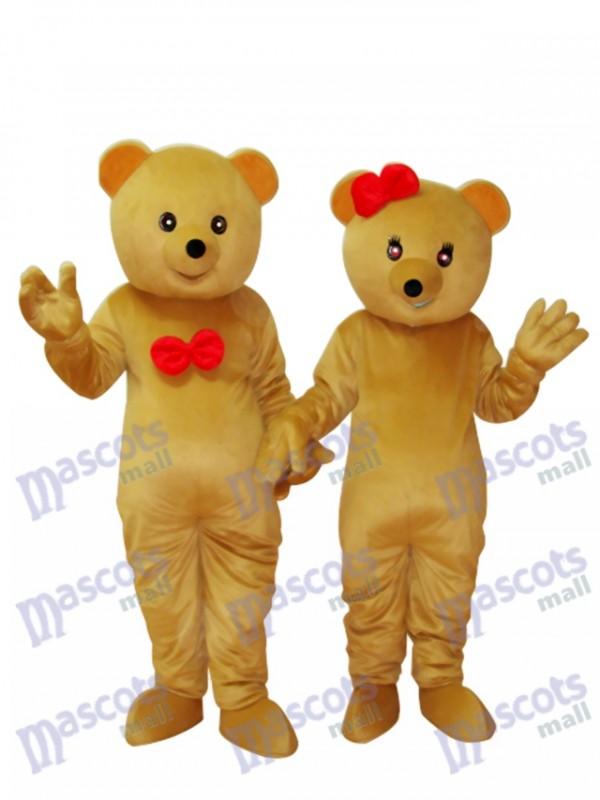 Zwei Teddybären Maskottchen Erwachsene Kostüm Tier