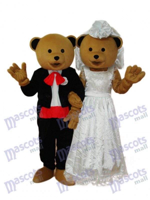 Hochzeit Bären paar Maskottchen Erwachsene Kostüm Tier