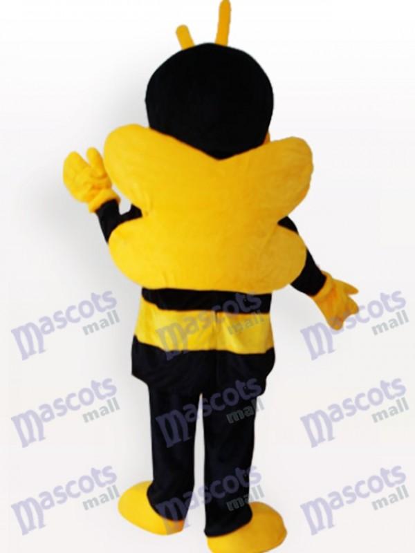 Gelbes schwarzes Bienen Insekt Maskottchen lustiges Kostüm