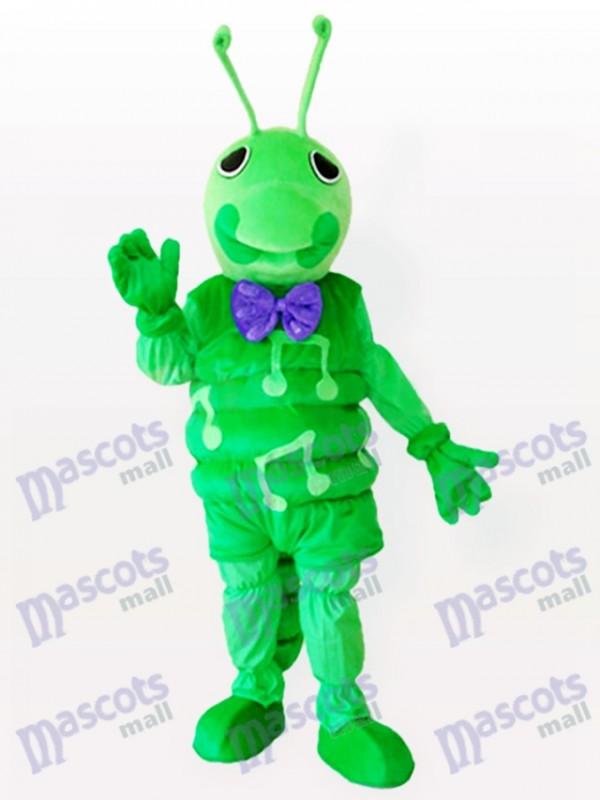 Grünes Caterpillar Insekt erwachsenes Maskottchen Kostüm
