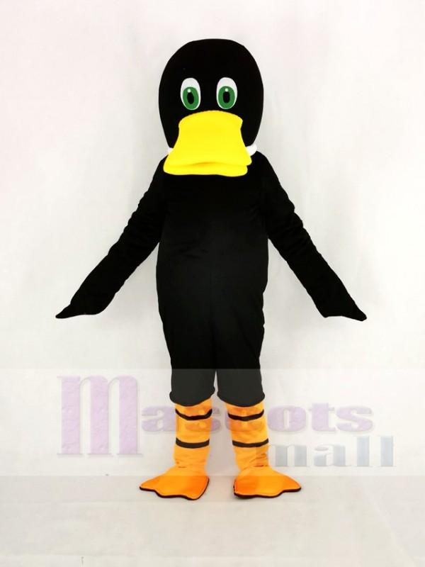 Schwarz Ente Entenschnabel Maskottchen Kostüm Karikatur