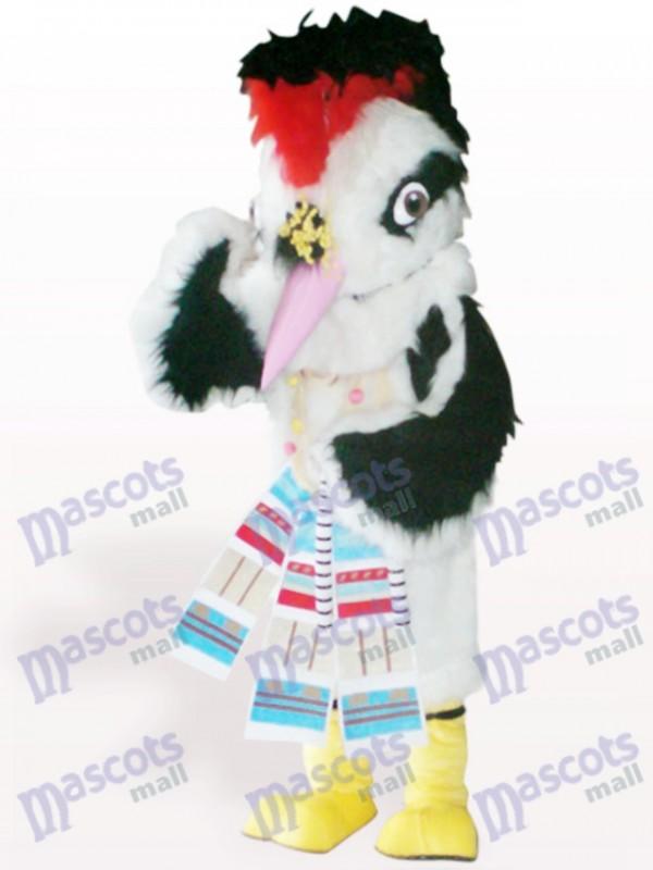 Weißes Haar Vogel Tier Maskottchen Kostüm