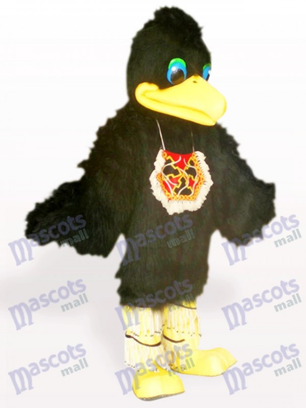Schwarzes Haar Vogel Tier Maskottchen Kostüm für Erwachsene