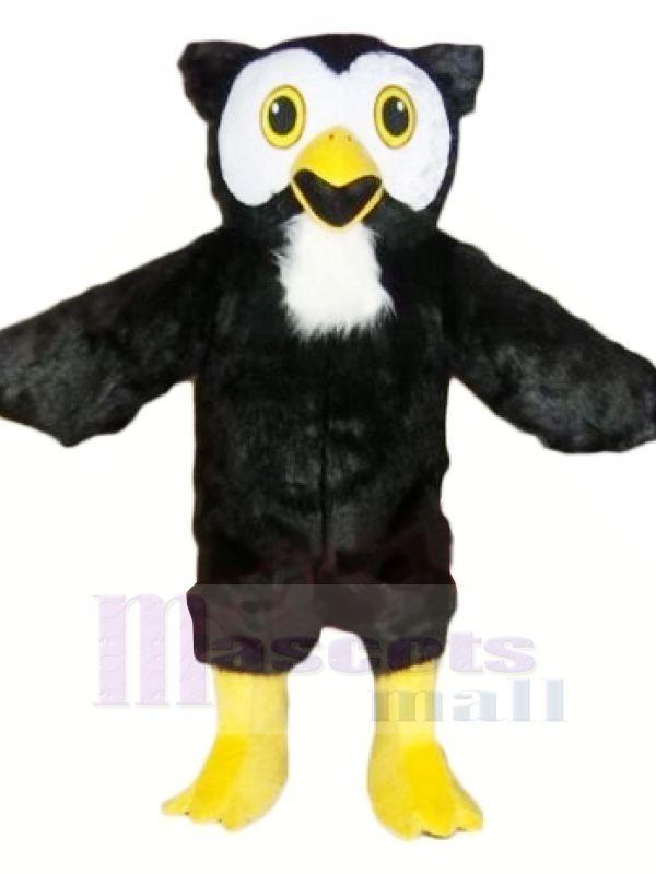 Schwarz Eule mit Gelb Füße Maskottchen Kostüme Tier