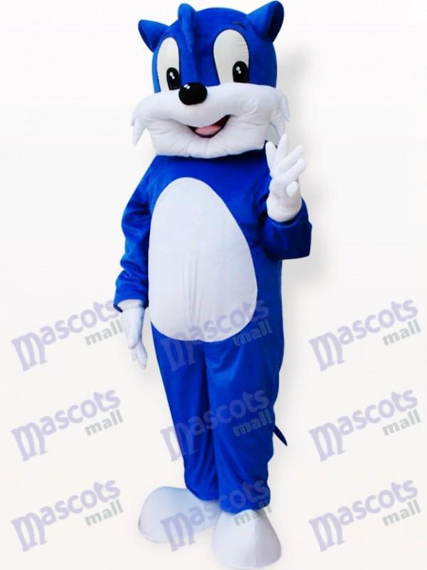 Blaue Katze Tier Maskottchen Kostüm für Erwachsene