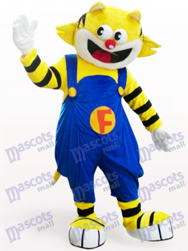 F-Katze Tier Maskottchen Kostüm für Erwachsene