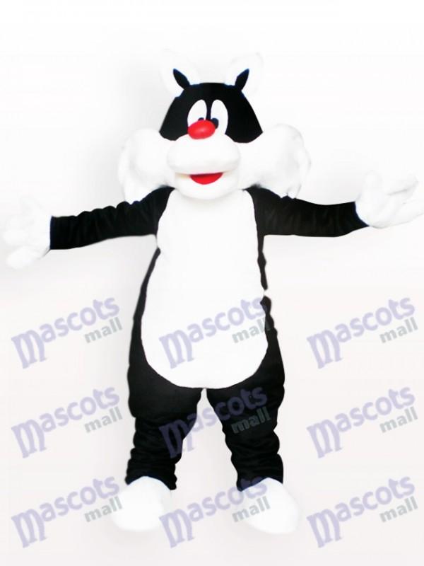 Schwarze Katze Tier Maskottchen Kostüm