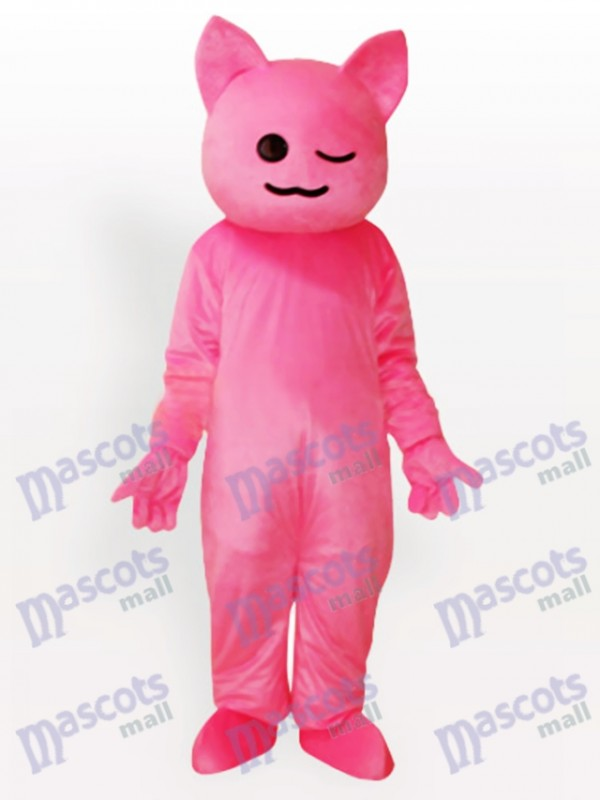 Pinky Cartoon Katze Maskottchen Kostüm für Erwachsene