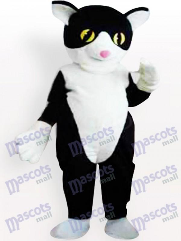 Schwarze und weiße Katze Maskottchen Kostüm