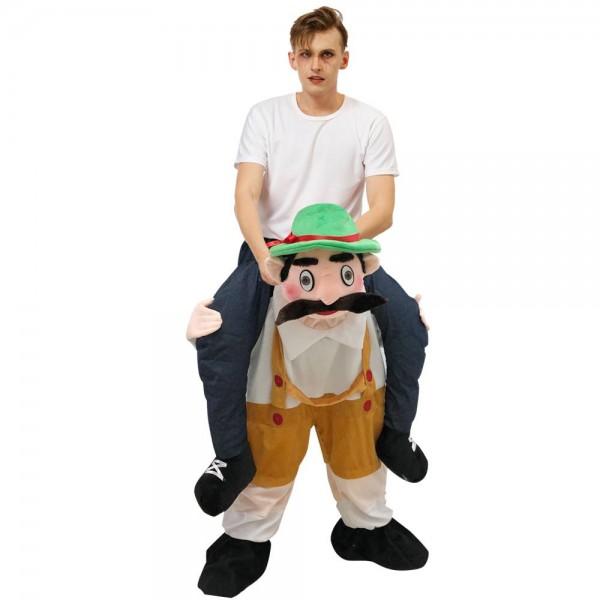Bayerisch Oktoberfest Bier Mann Tragen mich Reiten auf Halloween Weihnachten Kostüm zum Erwachsener/Kind