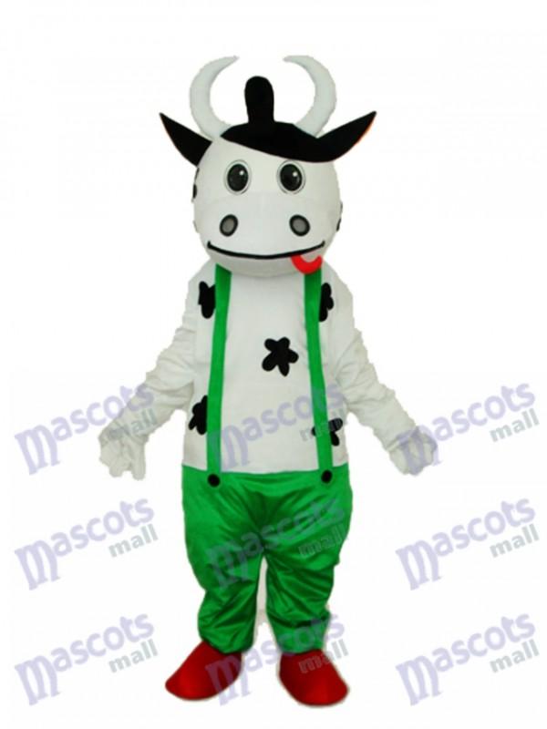 Kuh in Grün Insgesamt Maskottchen Erwachsene Kostüm Tier