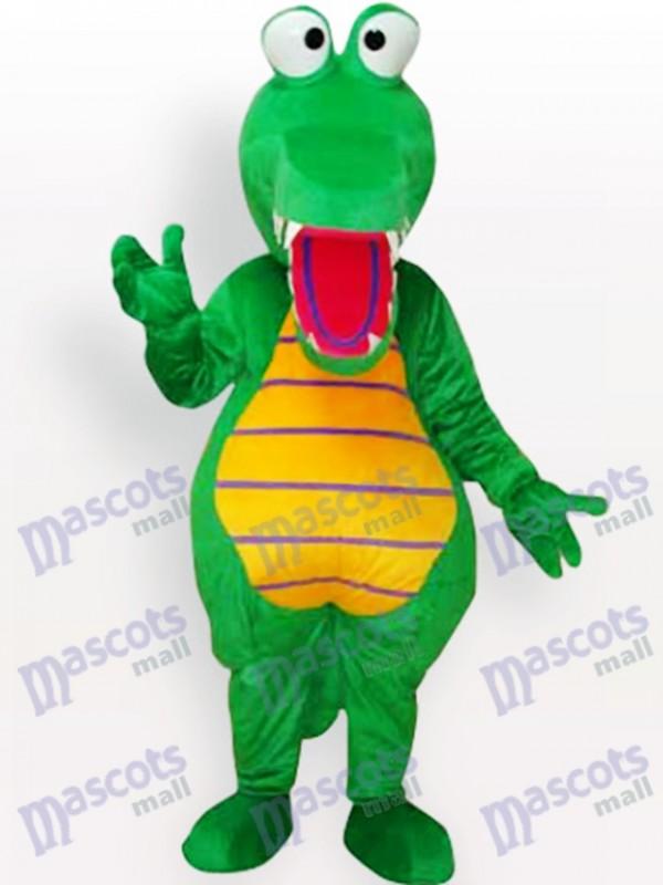 Grünes Krokodil Tier Maskottchen Kostüm für Erwachsene