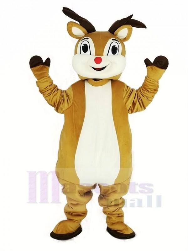rot Nase Rudolph Rentier Maskottchen Kostüm Tier