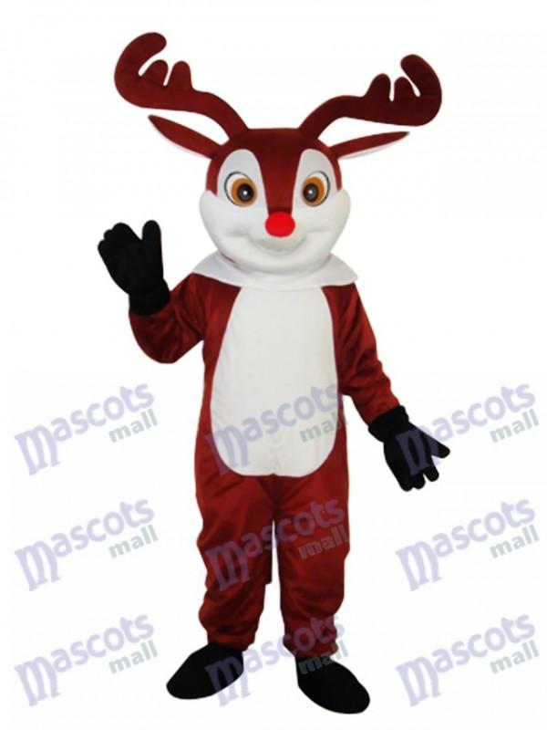 Little Brown Sika Deer Maskottchen Adult Kostüm Tier
