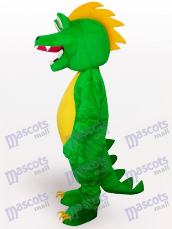 Grünes Dinosaurier Tier erwachsenes Maskottchen lustiges Kostüm