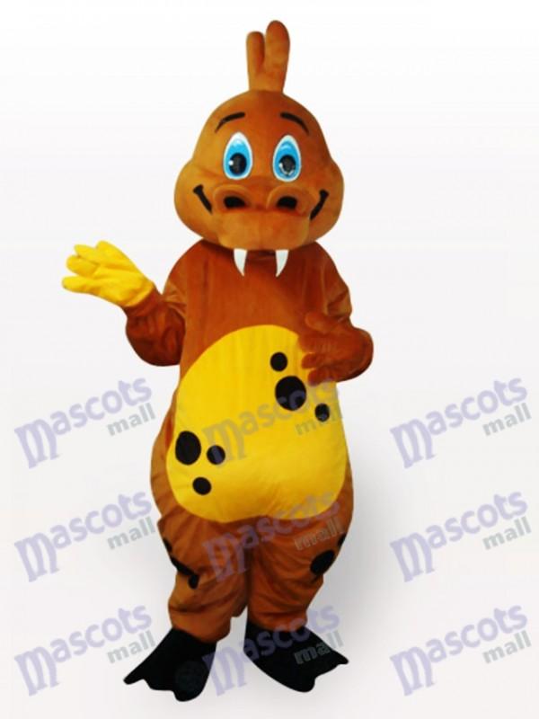 Gold Dinosaurier Tier Maskottchen Kostüm für Erwachsene