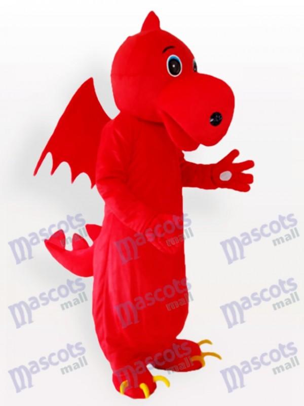 Red Stegosaurus Maskottchen Kostüm für Erwachsene