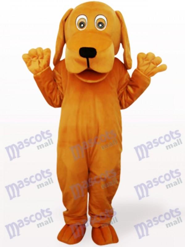 Brauner Hund mit großen Mund Tier Maskottchen Kostüm