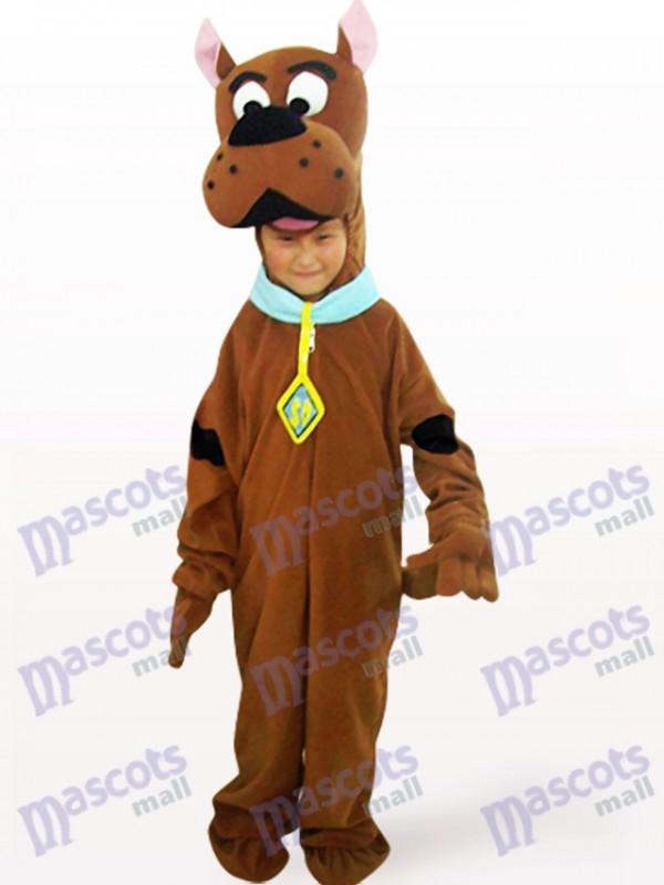 Brown Hund offenes Gesicht Kinder Tier Maskottchen Kostüm