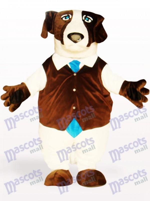 Brauner Hund Tier Maskottchen Kostüm