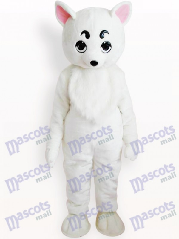 Weißer Hund Tier Maskottchen Kostüm für Erwachsene
