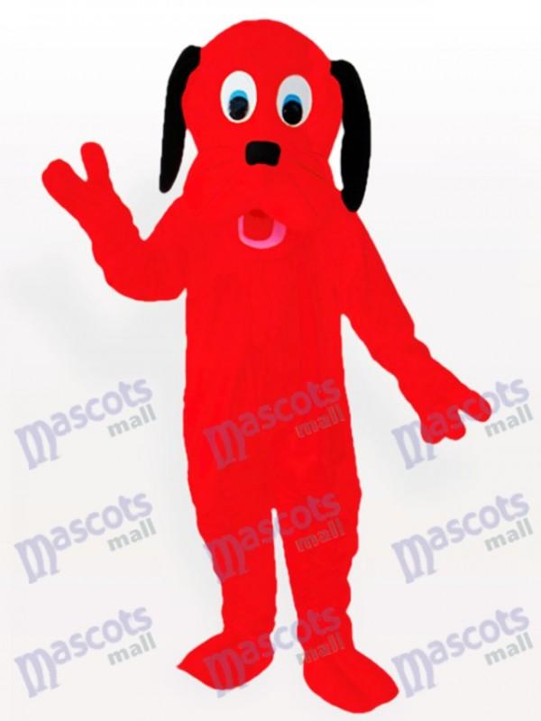 Feuerroter Hund Maskottchen Kostüm für Erwachsene