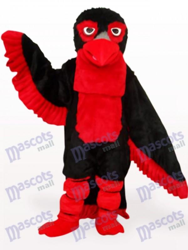 Schwarzes langes Haar Adler Maskottchen Kostüm für Erwachsene