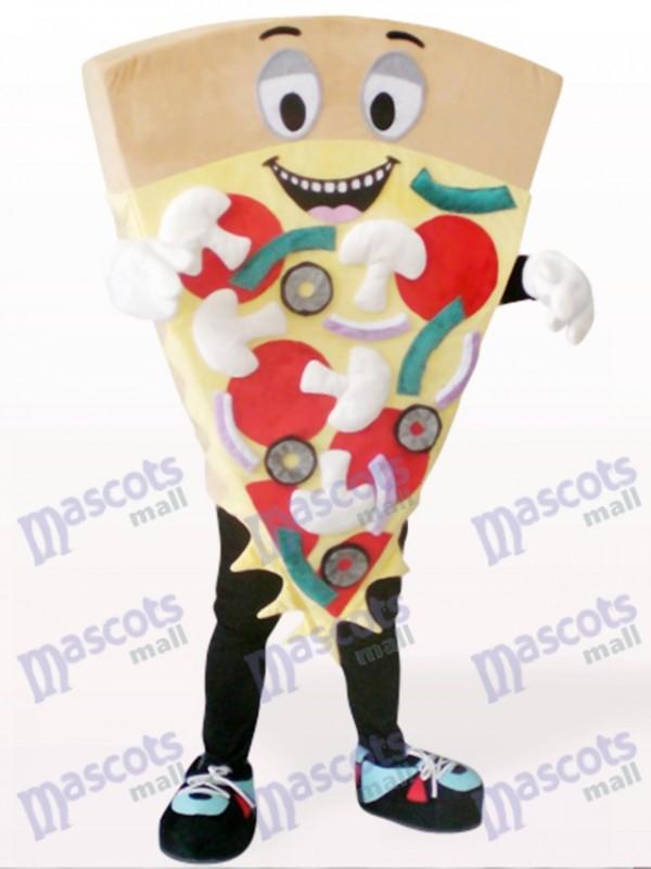 Braunen Käse Pizza Essen Maskottchen Kostüm