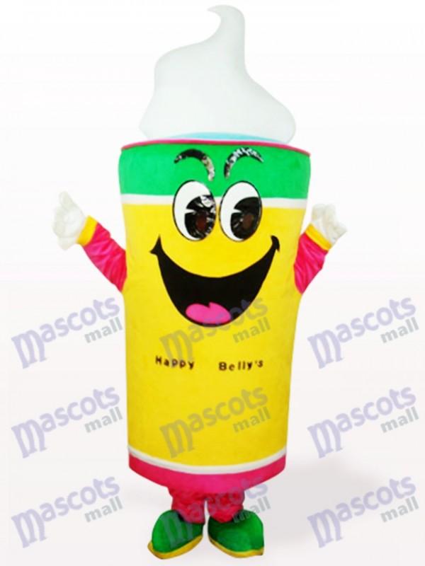 Gelbes Eiscreme Nahrung erwachsenes Maskottchen Kostüm