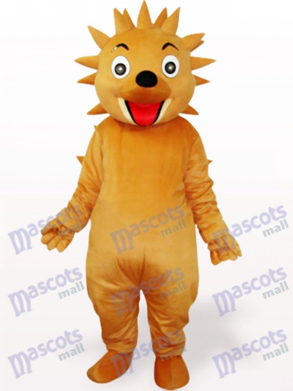 Bräunlich gelbes Igel Maskottchen Kostüm
