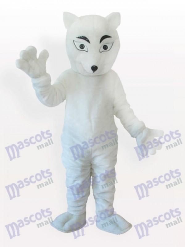 Weißes Polarfuchs Maskottchen Kostüm