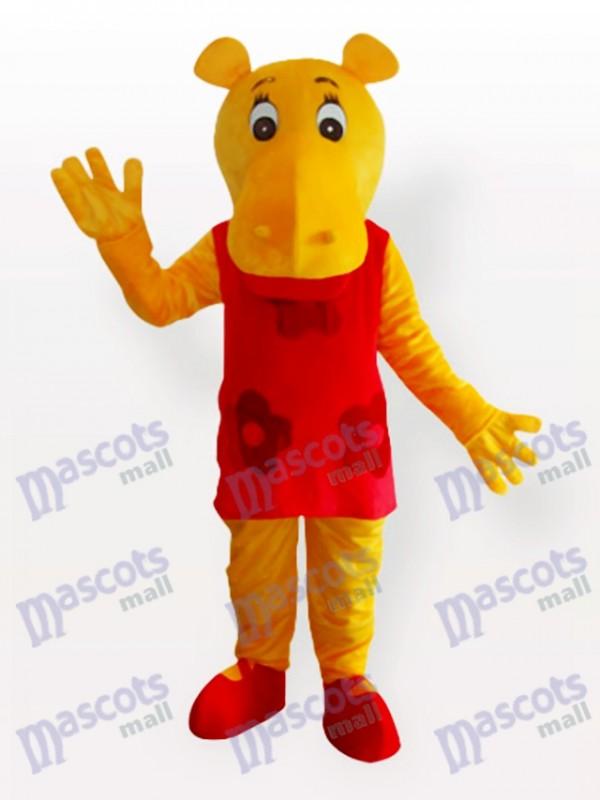 Fräulein Nilpferd Maskottchen Kostüm für Erwachsene