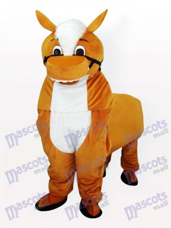 Kleines braunes Pferd Maskottchen Kostüm für Erwachsene