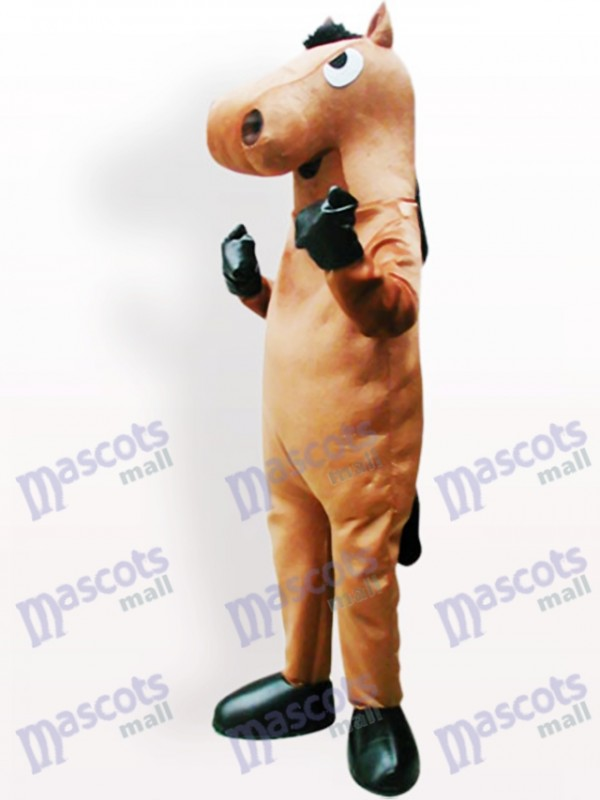 Braunes Pferd Maskottchen Kostüm für Erwachsene
