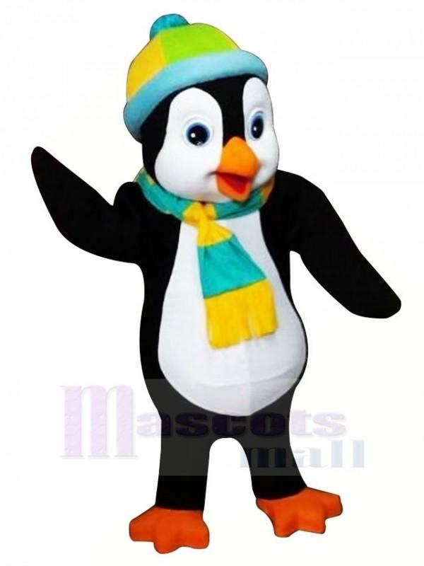 Pinguin mit Bunt Hut Maskottchen Kostüme Karikatur