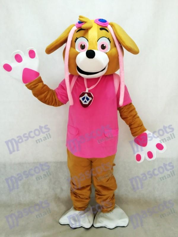 Paw Patrol Skye Pink Maskottchen Kostüm Hund Fancy Anzug Cartoon Charakter