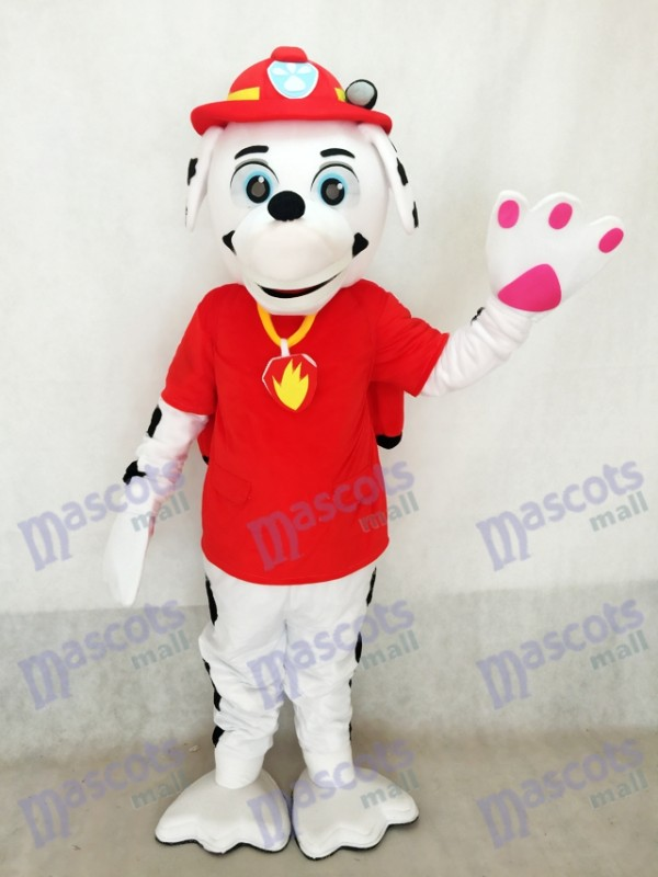 Erwachsene realistische neue Tatze Patrouille Marshall Dalmatiner Welpen Feuer Hund Maskottchen Kostüm Welpen Speichern Jake