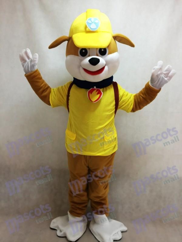 Paw Patrol Schutt Maskottchen Kostüm Gelber Hund Halloween Kostüm