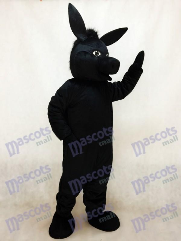 Schwarz Donald Esel Maskottchen Kostüm Tier